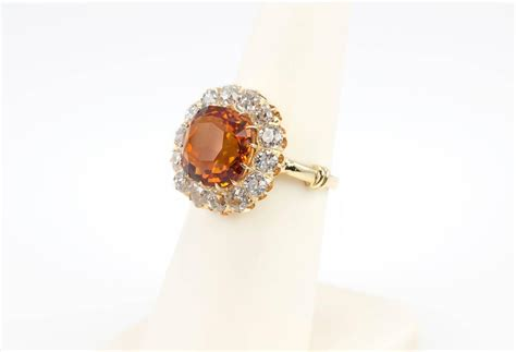 Citrine Gold Cutting 908 citrine mine cut gold cluster ring at 1stdibs