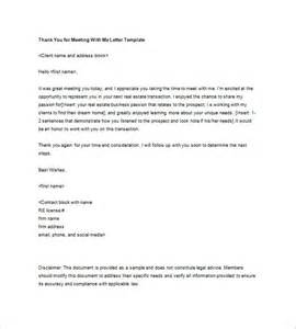 Thank You Letter After Sales Meeting real estate thank you letters 10 free word excel pdf format