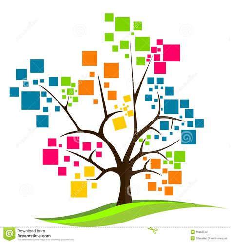 Abstract Tree Logo Stock Vector Illustration Of Logo 15268573 Logo With Abstract Tree Vector Free