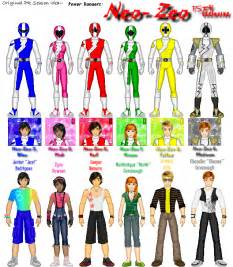 power rangers names and colors tragically un hip