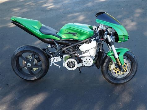 A Motorrad by Gatto Nero Snowmobile Powered Motorcycle By Jonz Customs