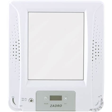 bathroom radio mirror zadro z fogless stereo shower radio with mirror and