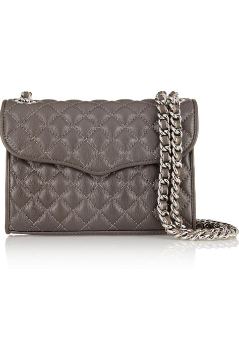 Minkoff Mini Quilted Affair by Minkoff Quilted Affair Mini Leather Shoulder Bag In Gray Taupe Lyst