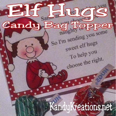 printable elf kisses elf kisses bag topper printable everyday parties