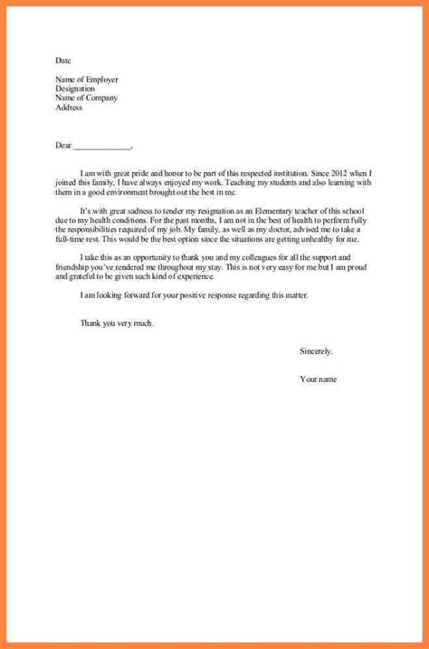 Personal Resignation Letter Sle by Personal Reason Resignation Letter Sle Simple Docoments Ojazlink