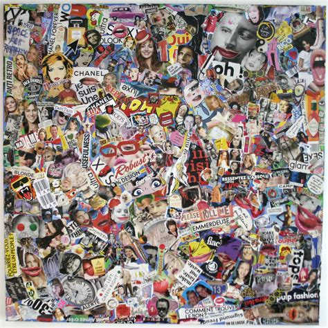 collage pop anyway by tam tam canvas collage humorous pop