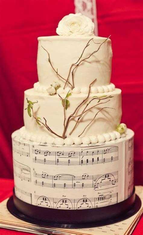 music themed wedding cake   as seen on ruffledblog.com