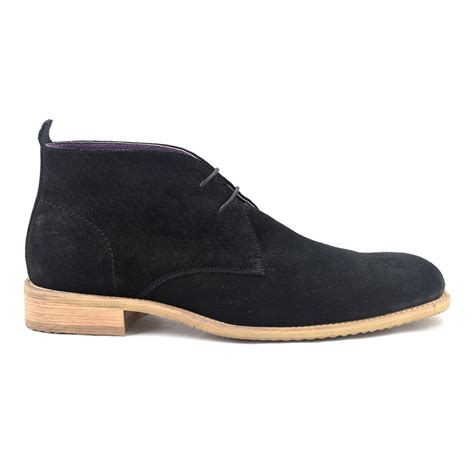 shop mens black suede chukka boot