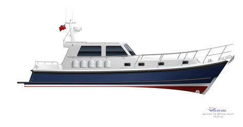 small displacement motor boat r d for 2 new nelson motor yacht models seaward boats