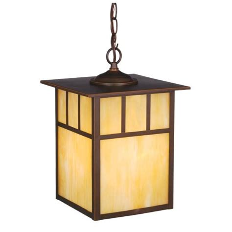 Craftsman Style Pendant Lighting Mission Ls Lighting Stained Glass Arts Crafts