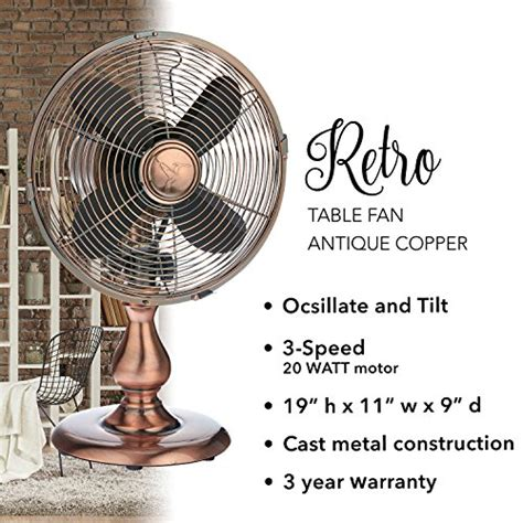 retro style desk fan oscillating fan 10 inch retro style desk fan