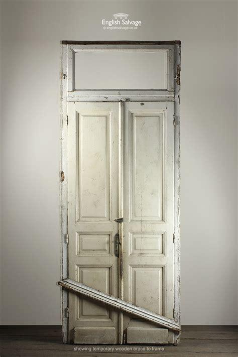 set salvaged doors  frame  fanlight