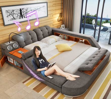 table sofa and bed all in one the bed with integrated chair speakers