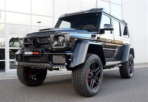 Mercedes That Looks Like A Jeep Brabus Mercedes G500 4x4 Delivered With Unique Interior