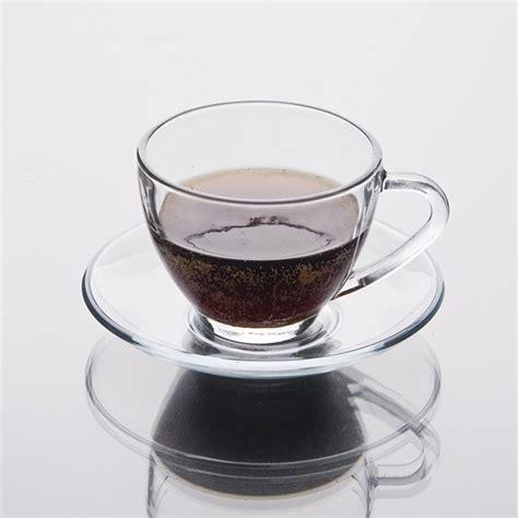 Cup Kaca gelas kopi cawan dengan piring