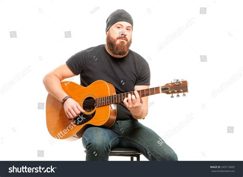 who is the guitar playing guy in the eliquis commercials man playing guitar bearded young men stock photo 243113605