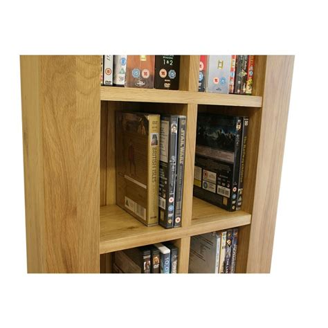 glenmore solid light oak dvd storage unit click oak