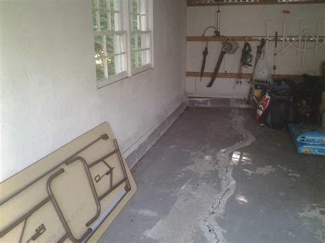 Cracked Garage Floor by Quality 1st Basement Systems Commercial Foundations