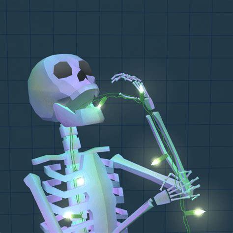 skeleton string lights skeleton lights gif by jjjjjohn find