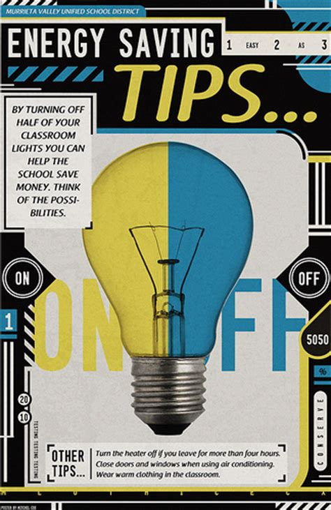 design poster highlighting energy conservation energy saving tips poster flickr photo sharing