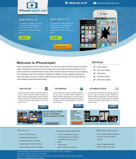 web design leaflet iphone repair brochure site by bilalashrafmalik on deviantart