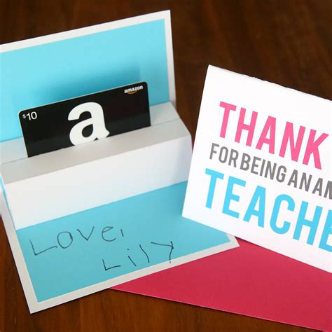 Ups Gift Card - diy teacher appreciation pop up gift card holder it s always autumn