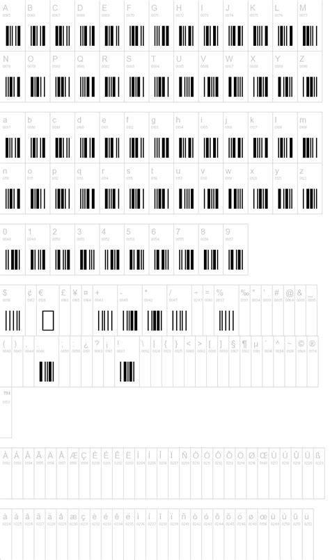 barcode tattoo font generator 3 of 9 barcode font dafont com