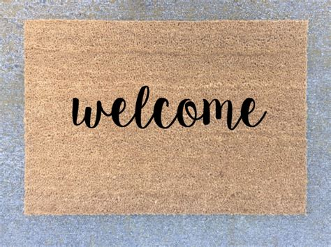 Customized Welcome Mat by Custom Door Mat Personalized Welcome Mat Welcome Mat By
