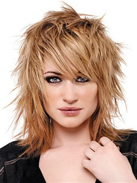 shoulder length spiky punk hair ladies hair styles shag haircut for girls