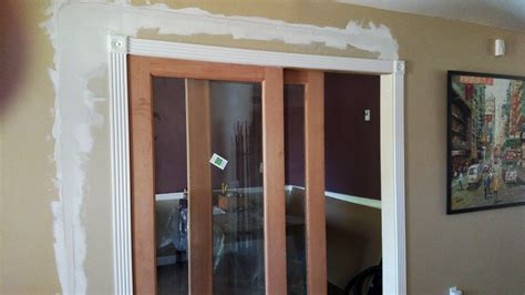 Interior Sliding Door And One Fixed Panel