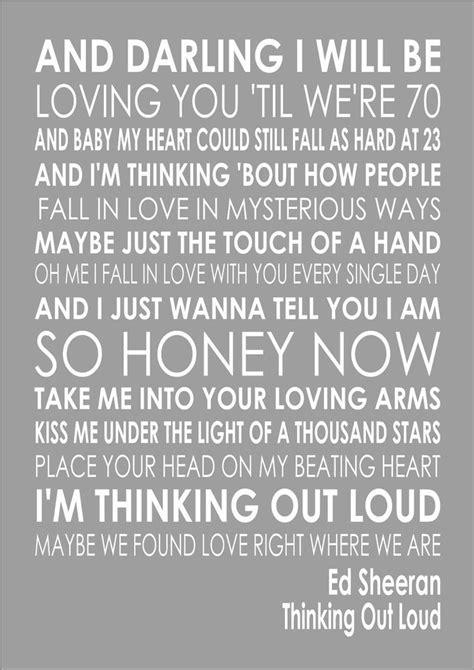 ed sheeran one lyrics 1 thinking out loud ed sheeran word wedding valentines