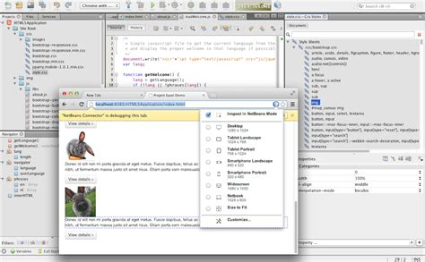 netbeans mobile html5 web development support