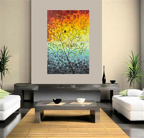 office wall decorations by qiqigallery 24 quot x 36 quot original modern abstract landscape wall painting office wall d 233 cor
