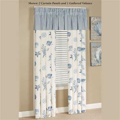 ocean themed window curtains treasures by sea blue coastal window treatment