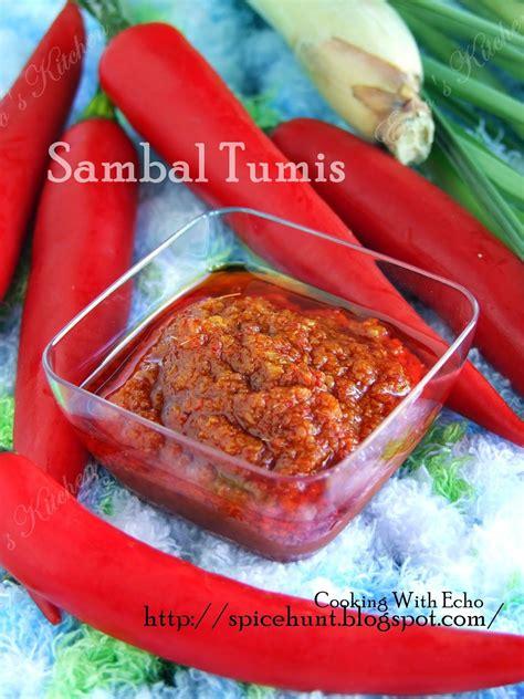 Samba Chili Terasi sambal tumis malaysian ingredients 10 shallot 6 cloves garlic 6 fresh chilli 15