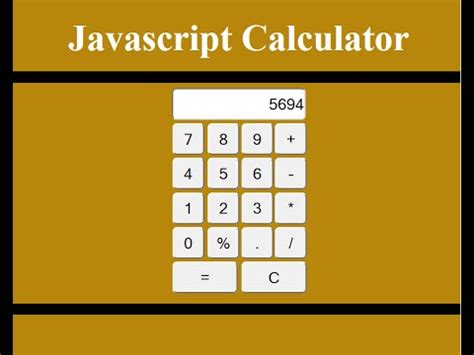 calculator using html how to create a calculator in javascript youtube