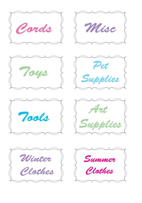printable coupon organizer labels 8 best images of free printable organization labels free