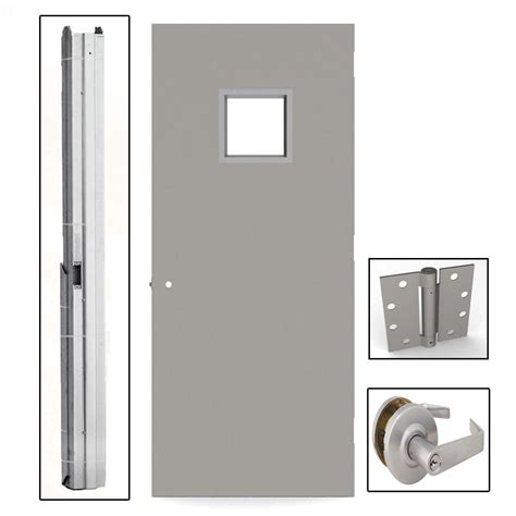 home depot paint for metal doors l i f industries 36 in x 84 in gray flush steel vision