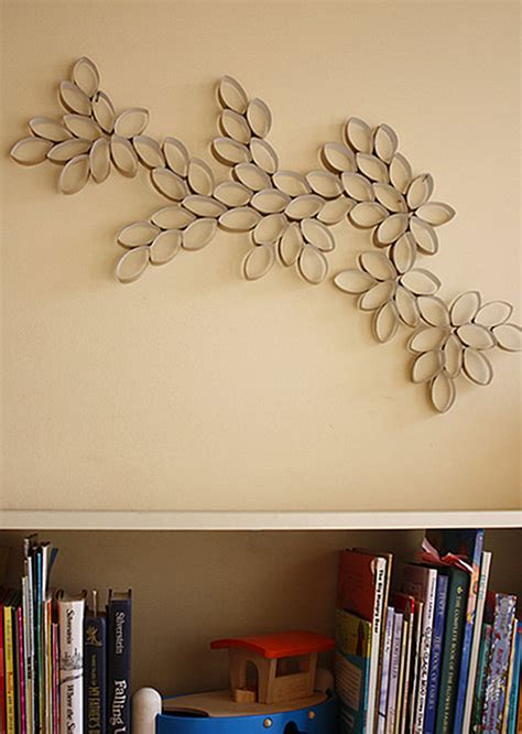 Diy Wall Decor by Diy Project Toilet Paper Roll Wall Design Sponge