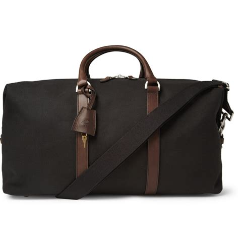 Mulberry Radcliffe Canvas Purse by Mulberry Clipper Leather Trimmed Canvas Holdall Bag In