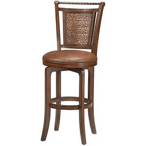 bar counter stools hillsdale furniture norwood 30 5 in brown cherry swivel cushioned bar stool 4935 831s the