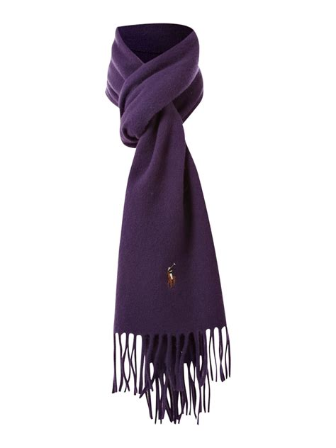 polo ralph lambswool scarf with pony player logo in