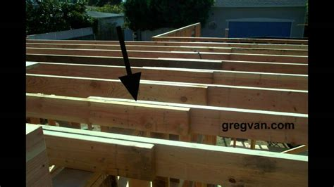 How To Build Ceiling Joists by Wood Framing Ceiling Joist Laps Connections Home