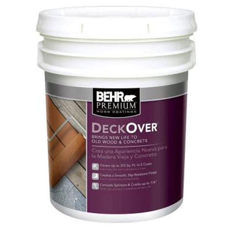 home depot paint types behr premium deckover 5 gal wood and concrete paint