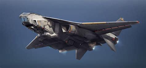 Bomber Fulcrum Space Army Navy Hos transport plane design yi wei on artstation at https www artstation artwork y82od