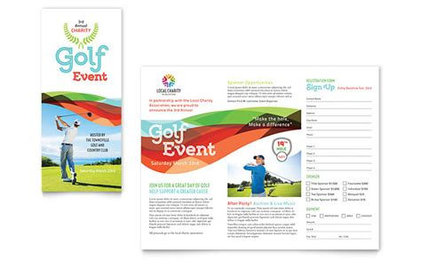 golf brochure templates charity golf event brochure template word publisher