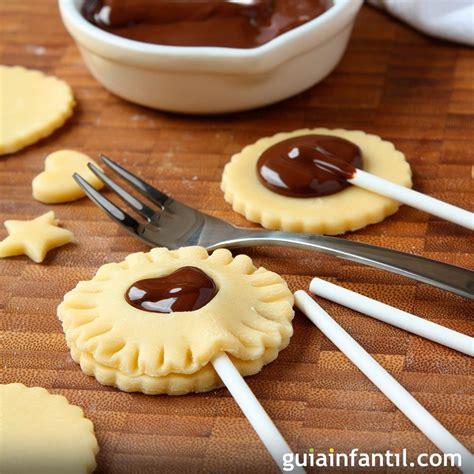 recetas de cocina para ni os divertidas cookie pops para ni 241 os galletas divertidas con chocolate