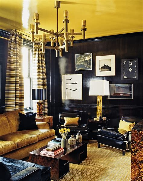 Yellow And Black Living Room Decorating Ideas by 55 Masculine Living Room Design Ideas Inspirations
