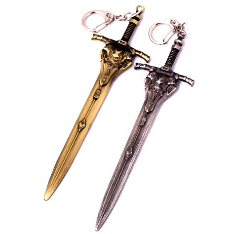 souls iii 3 artorias sword metal pendant keyring