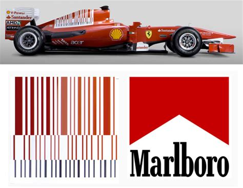 Ferrari Malboro by Ferrari To Remove Marlboro Barcode